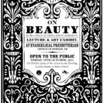 update: On Beauty | Lecture & Art Exhibit