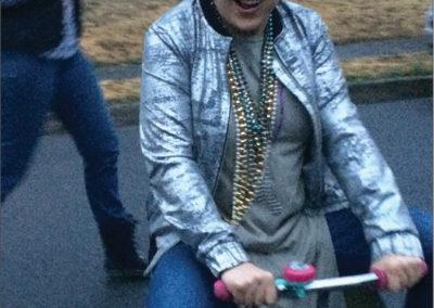 Dennissa's Visit | bike parade